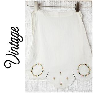 Vintage hand embroidered children's apron
